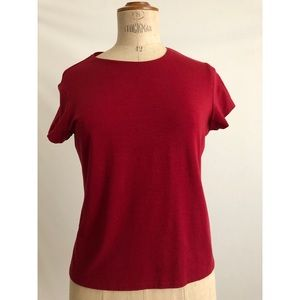 Eileen Fisher red top size:S cotton blouse basic